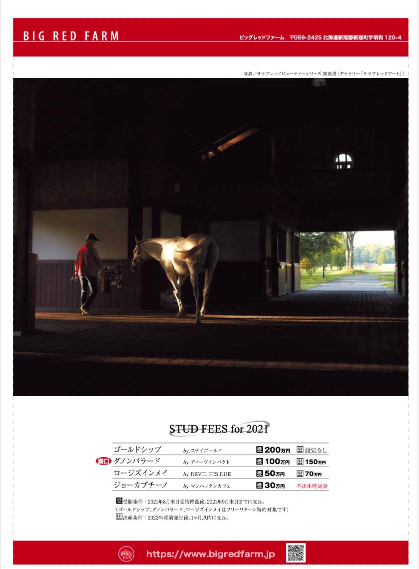 関真澄サラブレッドビューティー「ゴールドシップ」ケイバブック広告1